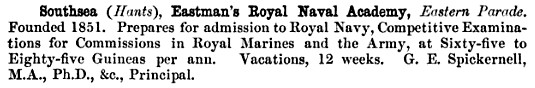 Eastman's Royal Naval Academy