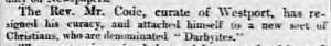 1836-03-05 The Worcester Herald 2 (Code, Darbyites)