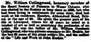 1903-07-03 The Yorkshire Post 8 Obituary (Collingwood)