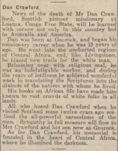 1926-06-11 Evening Telegraph and Post, Dundee 2 Here and There (Crawford)