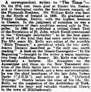 1906-04-02 The Yorkshire Post 8 Obituary (Kelly)