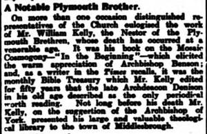 1906-04-05 Brighton Gazette 7 Personal Gossip (Kelly)